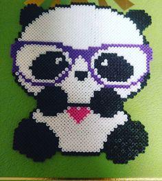 panda perler beads by nikkienish