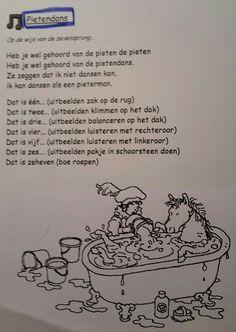 Liedje Pietendans Yoga For Kids, Crafts For Kids, December, School, Crafts For Children, Kids Arts And Crafts, Schools, Easy Kids Crafts, December Daily