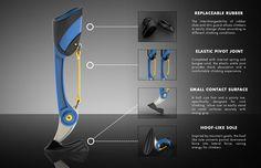 KLIPPA, Prosthetic Leg for Rock Climbers by Industrial Designer Kai Lin