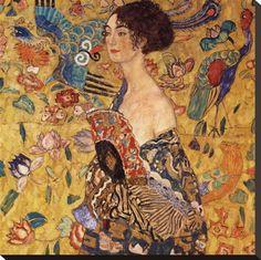 """""""Lady with Fan"""" - Gustav Klimt"""