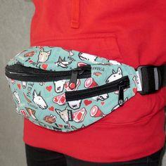 Bull Terrier Fanny bag , fanny pack, dog walking bag , bum bag, hip bag by PSIAKREW on Etsy