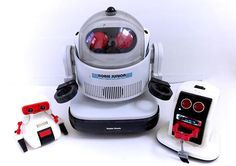 Vintage 1980s Robot Lot Radio Shack Robie Junior Tomy Dustbot! www.CuteVintageToys.com 💖 Hundreds Of Kawaii Vintage Toys From The 80s & 90s! Follow Me & Use The Coupon Code PINTEREST For 10% Off Your ENTIRE Order! 💌 Dozens of G1 My Little Ponies, Polly Pockets, Popples, Strawberry Shortcake, Care Bears, Rainbow Brite, Moondreamers, Keypers, Disney, Fisher Price, MOTU, She-Ra Cabbage Patch Kids, Dolls, Blues Clues, Barney, Teletubbies, ET, Barbie, Sanrio, Muppets, & Fairy Kei Cuteness! 💖