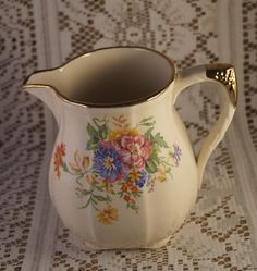 A personal favorite from my Etsy shop https://www.etsy.com/uk/listing/216365835/a-very-pretty-vintage-alfred-meakin-jug