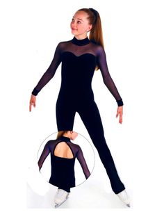 New Competition Skating Dress Catsuit Unitard Navy Elite Xpression 1554 12 14 CL | eBay