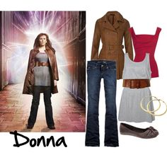 """Donna Noble (Doctor Who)"" by ann-d on Polyvore"