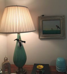 A theme of Crows beautifully accents this room corner and table and lamp display.