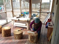 woodworking center for preschool