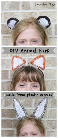 Interchangeable DIY Animal Ear Headband - A tutorial with plastic canvas from Swoodson Says