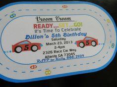 Boy Car Birthday Invitation