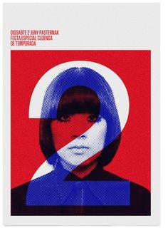 Poster indie Club by MARIN DSGN, via Flickr print design graphic design