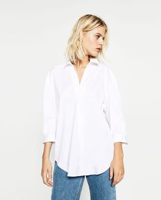 ZARA - WOMAN - POPLIN BLOUSE