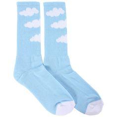 Odd Future Cloud Socks Blue ($18) ❤ liked on Polyvore featuring intimates, hosiery, socks, accessories, socks and tights, shoes, odd future socks, odd future and blue socks