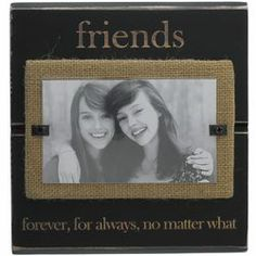 friends burlap picture frame bestfriends