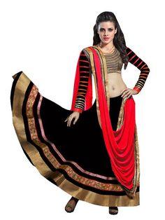 LadyIndia.com #Party Wear, Hot Selling New Priyanka Chopra Red & Black Color Bollywood Lehenga, Wedding Sari,Bridal Saree,Printed Saree,Party Wear,Designer,Lahnga Choli, https://ladyindia.com/collections/ethnic-wear/products/hot-selling-new-priyanka-chopra-red-black-color-bollywood-lehenga