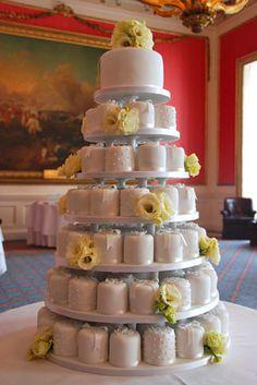 Mini Individual Towered Wedding Cakes