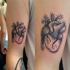 anatomical heart tattoo by rebecca vincent