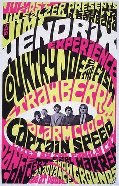 ☯☮ॐ American Hippie Psychedelic Classic Rock Music Retro Vintage ~ Santa Barbara Jimi Hendrix Experience concert 1967
