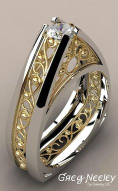 Brilliant Luxury by Emmy DE * Greg Neeley Pinnacle Engagement Set