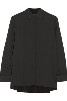 The Row Carlton oversized crepe blouse NET-A-PORTER.COM