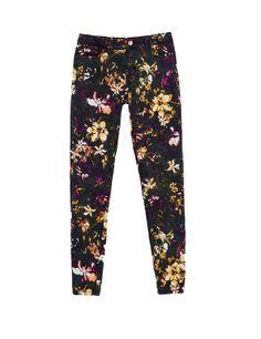 Pantalones florales de #Zara