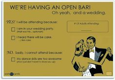 Show some personality with your Reply Cards!  Your guests will love that it is fun instead of stuffy!