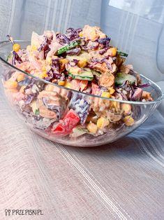 Sałatka Kebab Cooking Recipes, Healthy Recipes, Coleslaw, Cobb Salad, Acai Bowl, Mango, Food And Drink, Meals, Breakfast