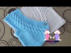 Çapraz Yenidoğan Yeleği - YouTube Crochet Baby, Crochet Top, Knit Cardigan, Diy And Crafts, Sweaters, Cardigans, Knitting, Youtube, Tops