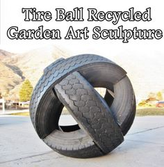 This step by step tutorial of how to create a Tire Ball Recycled Garden Art Sculpture is creative, weatherproof and uses inexpensive materials to build. Th