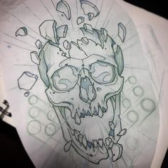 35 Ideas for drawing tattoo skull bones Tattoo Sketches, Tattoo Drawings, Cool Drawings, Body Art Tattoos, Drawing Sketches, Key Tattoos, Foot Tattoos, Drawing Ideas, Sleeve Tattoos