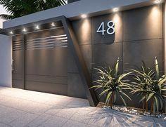 Front Wall Design, House Main Gates Design, Exterior Wall Design, Fence Gate Design, Modern Entrance Door, House Entrance, Village House Design, Bungalow House Design, Compound Wall Design