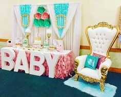 "Awww LK at Our Throne Chair ""PRINCESS"" How cute is this Spring Floral Baby Shower? #thronechairs #tablescape #babyshowerideas #paperflowerwall #princessshower #babyshower #theknotpro #weddingplanner #babygirl #luxelinen #eventprofs #chaircovers #eventpros #eventprof #theknotweddings #backdrop #backdrops #princess #stylemepretty #luxurywedding #sweethearttables #weddingstylist #royalbabyshower #bostoneventplanner #bostonevents #bostonvenue #bostonevent #evedeso #eventdesignsource - posted…"