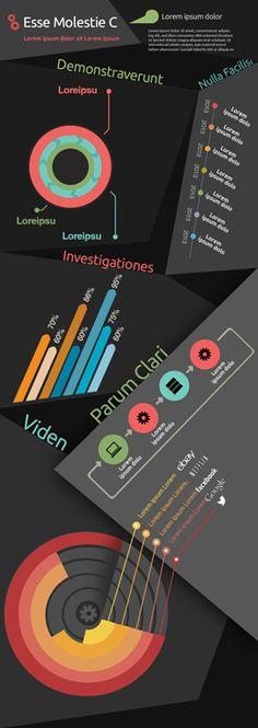 Random shapes infographic charts, bar, histogram and pie charts Pie Charts, Print Design, Graphic Design, Corporate Design, Lorem Ipsum, Editorial, Clock, Layout, Shapes