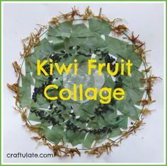 Kiwi Fruit Collage from Craftulate using tissue paper, rice and embroidery thread Fun Crafts For Kids, Craft Activities For Kids, Toddler Crafts, Preschool Crafts, Art For Kids, Preschool Ideas, Craft Ideas, Kiwi, Fruit Crafts