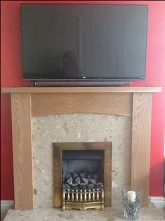 The Contemporary Arch #Oak sent in by Gillian Potter. Shown here in a light oak finish with a fantastic array of natural #character.   #fireplace Granite Hearth, Marble Hearth, Contemporary Gas Fires, Oak Fire Surround, Inset Stoves, Black Granite, Fireplace Surrounds, Light Oak, White Marble