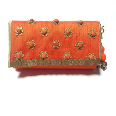 Women Girl wedding Party Club Evening Orange Clutch Wallet Purse Christmas Sale…