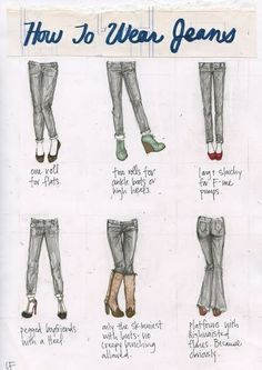 How to wear jeans 101