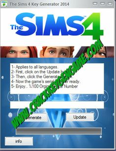 The Sims 4 ( 2014) Keygen,  The Sim 4 Serial Key 2014, The Sims 4 Cd Key, The Sims 4 is an upcoming life simulation game. It will be the fourth installment in The Sims series