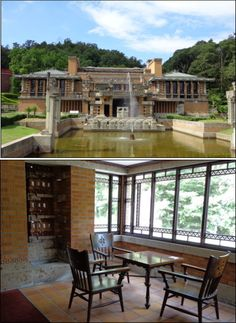 Frank Lloyd Wright's Imperial Hotel | Meiji-mura open-air museum in Inuyama, Aichi, Japan 明治村 旧帝国ホテル http://www.meijimura.com/english/index.html