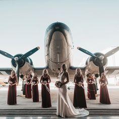 wedding photography maid of honor Grooms Aviation Wedding Theme, Airplane Wedding, Aviation Theme, Aviation Fuel, Pilot Wedding, Air Force Wedding, Our Wedding, Dream Wedding, Magical Wedding