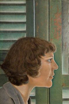 Lucian Freud - Portrait of Kitty. Kitty was Freud's wife, and he dated her aunt, Lorna. Kitty's father was the sculptor, Sir Jacob Epstein. Sigmund Freud, Lucian Freud Portraits, Lucian Freud Paintings, Francis Bacon, David Hockney, John Minton, Antoine Bourdelle, Leigh Bowery, Artists And Models