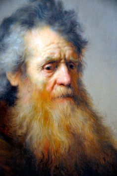 Rembrandt van Rijn Bust of an Old Man, 1632 (Detail). Oil on oak panelHarvard Art Museum Cambridge MA.