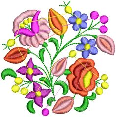 Kalocsai hímzésminta 303 Embroidery Patterns, Cross Stitch, Design, Folk, Instagram, Craft, Apron, Log Projects, Hungarian Embroidery