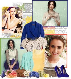 """""""Lily Collins"""" by lollie ❤ liked on Polyvore"""