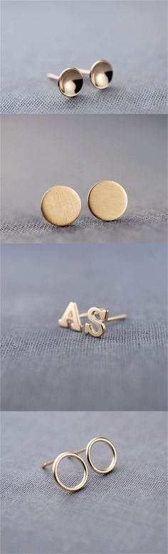 These handcrafted stylish stud earrings are a perfect look for the every day outfit. Simple, elegant, yet with a twist. | Made on Hatch.co by independent designers & jewelry makers who care.