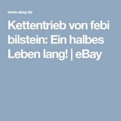 Kettentrieb von febi bilstein: Ein halbes Leben lang!   eBay