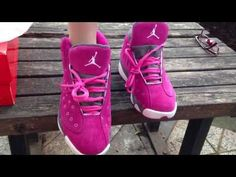 Air Jordan 13 XIII Women Shoes in Pink and Grey hiphopfootlocker.net