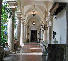 Interior of Vizcaya Mansion, Miami, Florida