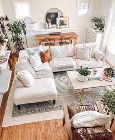 Boho Living Room, Cozy Living Rooms, Living Room Modern, Living Room Designs, Living Room Interior, Dining Rooms, Cute Living Room, Boho Room, Bohemian Living