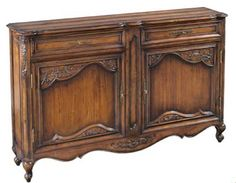 Emerson Et Cie Louis XV Carved Credenza with Planked Top EC-28052