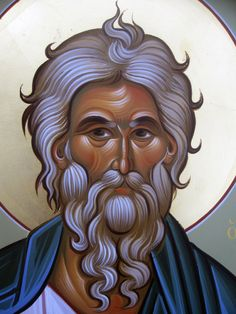 Church Icon, Byzantine Icons, St Andrews, Orthodox Icons, Hair Designs, Saints, Statue, Drawings, Faces